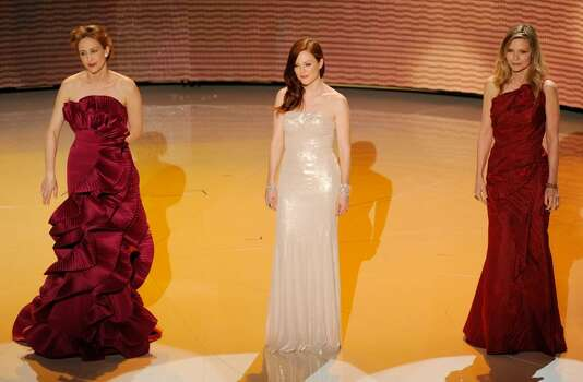 HOLLYWOOD - MARCH 07:  Actors (L-R) Vera Farmiga, Julianne Moore and Michelle Pfeiffer present onstage during the 82nd Annual Academy Awards held at Kodak Theatre on March 7, 2010 in Hollywood, California.  (Photo by Kevin Winter/Getty Images) *** Local Caption *** Vera Farmiga;Julianne Moore;Michelle Pfeiffer Photo: Kevin Winter, Getty Images / 2010 Getty Images