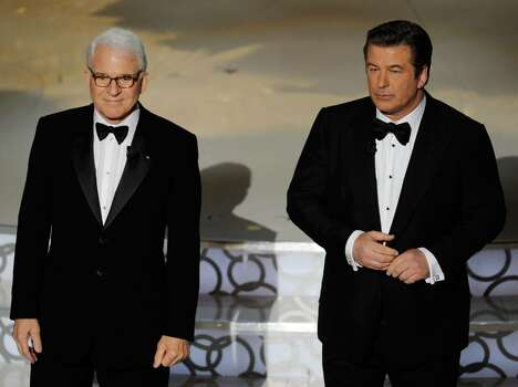 HOLLYWOOD - MARCH 07:  Co-hosts Steve Martin (L) and Alec Baldwin onstage during the 82nd Annual Academy Awards held at Kodak Theatre on March 7, 2010 in Hollywood, California.  (Photo by Kevin Winter/Getty Images) *** Local Caption *** Steve Martin;Alec Baldwin Photo: Kevin Winter, Getty Images / 2010 Getty Images