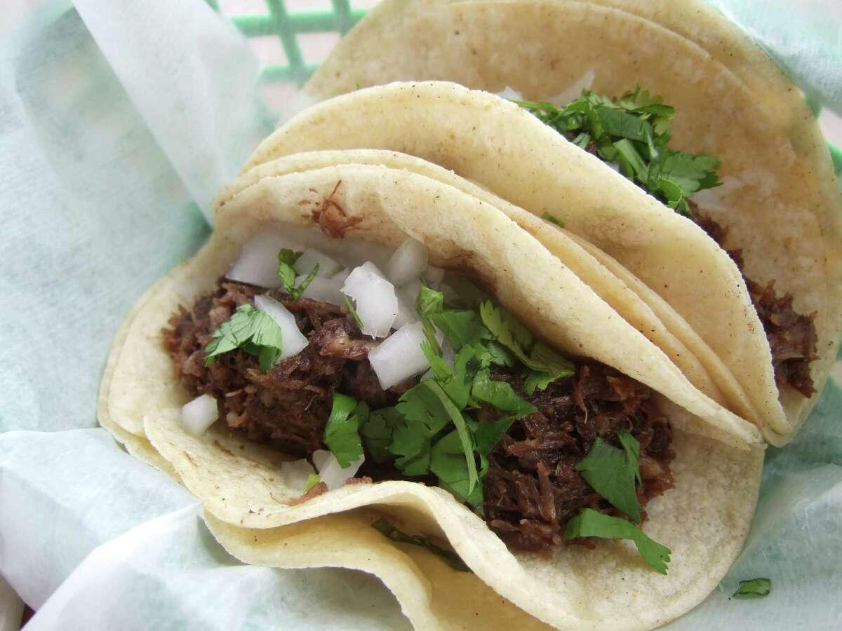 Barbacoa Tacos from Gerardo's Drive-in in Houston.