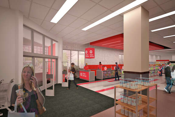 A 17,000-square-foot TargetExpress store, seen in these artist's renderings, will open in October on Ocean Avenue in San Francisco.