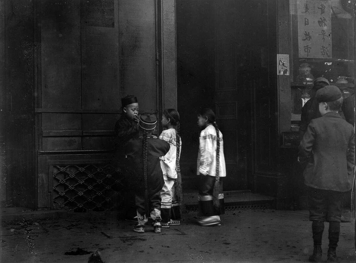 His first cigar, between 1896 and 1906, Chinatown, San Francisco