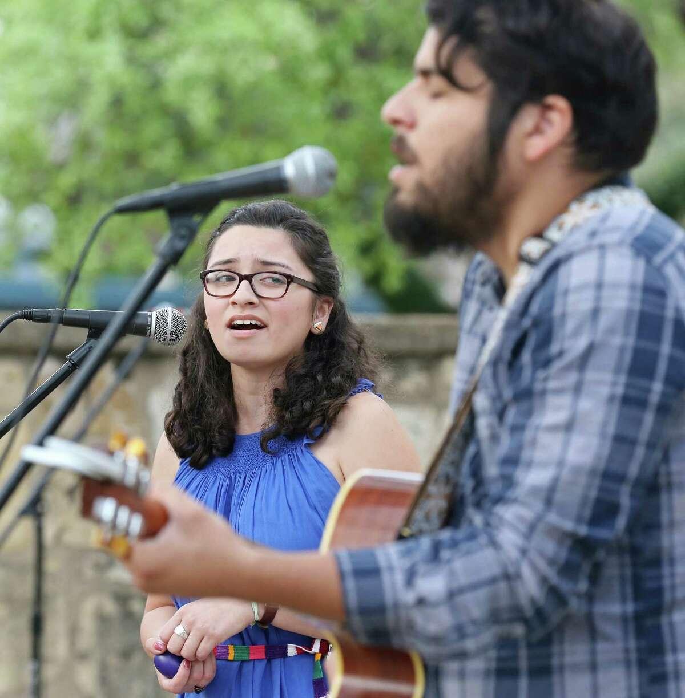 Lorita Drive's Amanda Magana and her brother Aaron Magana perform during the 2015 Maverick Music Festival Friday April 10, 2015 at La Villita. The festival runs through April 11th.