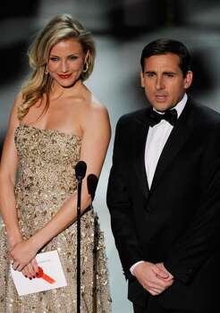 HOLLYWOOD - MARCH 07:  Actors Cameron Diaz and Steve Carell present onstage during the 82nd Annual Academy Awards held at Kodak Theatre on March 7, 2010 in Hollywood, California.  (Photo by Kevin Winter/Getty Images) *** Local Caption *** Cameron Diaz;Steve Carell Photo: Kevin Winter, Getty Images / 2010 Getty Images