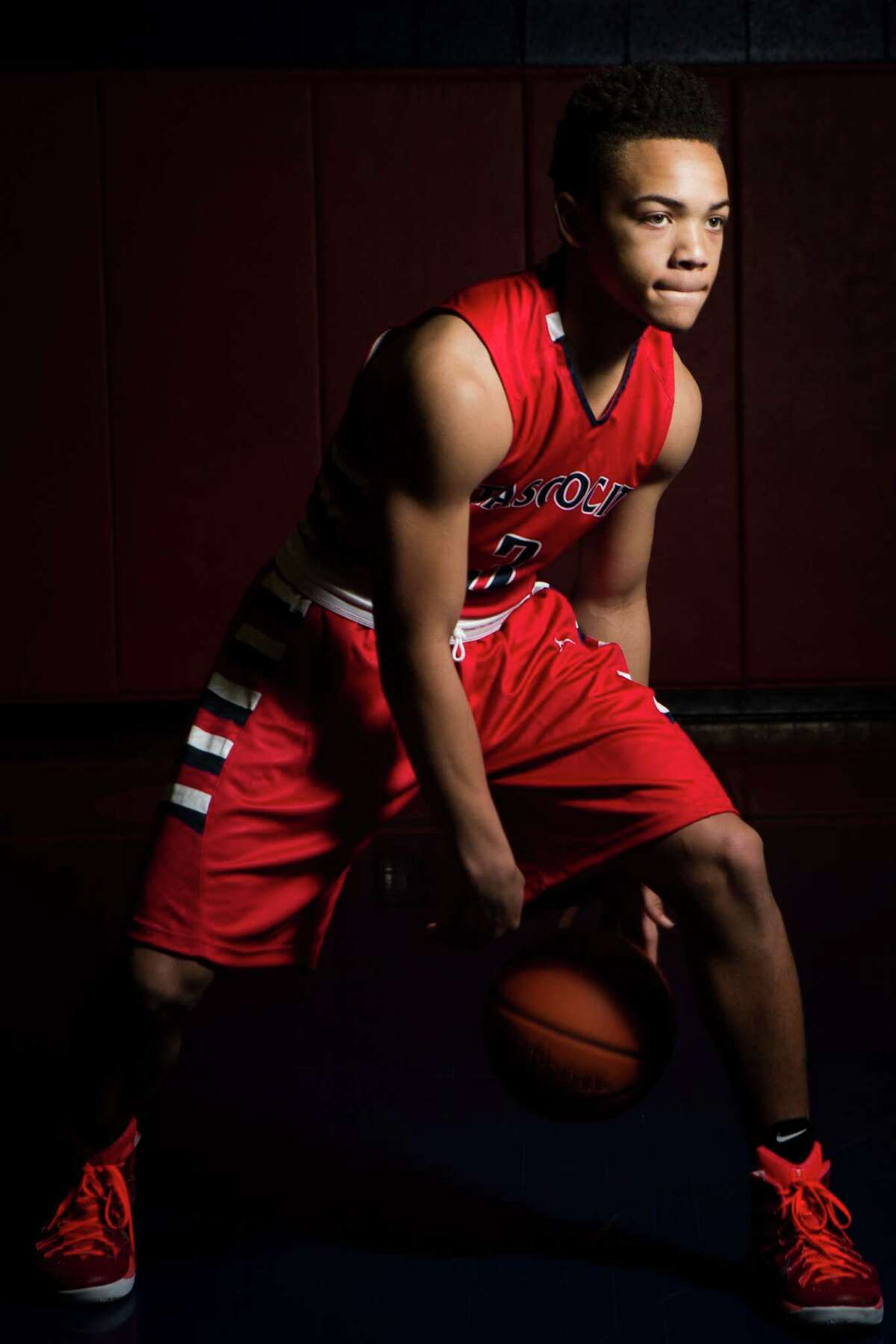 Carsen Edwards, 17, All-Greater Houston boys basketball player of the year. Edwards is a junior student at Atascocita High School. Monday, March 30, 2015, in Houston. ( Marie D. De Jesus / Houston Chronicle )