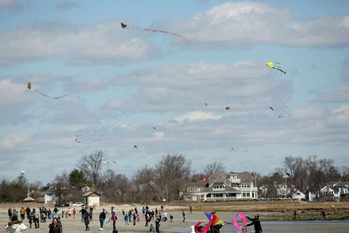 Many attend Saturday afternoon annual Kite Flying Festival held at Greenwich Point.