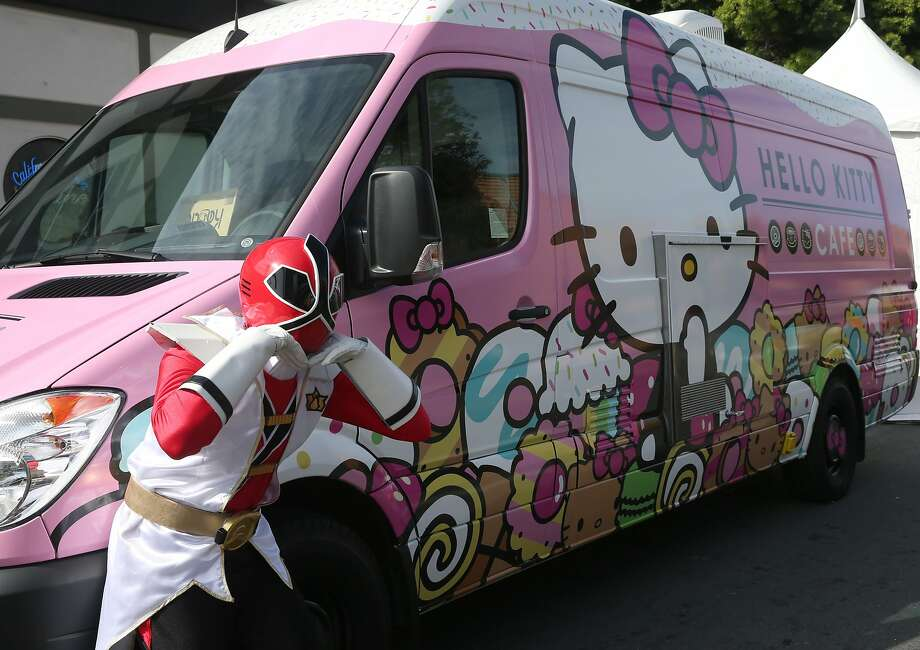 Power Rangers are fans of the Hello Kitty Cafe food truck at the 48th annual Cherry Blossom Festival in Japantown in San Francisco, Calif. on Saturday, April 11, 2015. Photo: Paul Chinn, The Chronicle