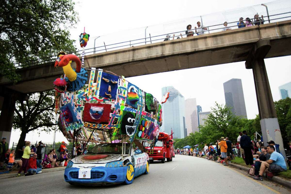 Allen Parkway was the runway for 259 entries in the 28th Annual Art Car Parade on Saturday.