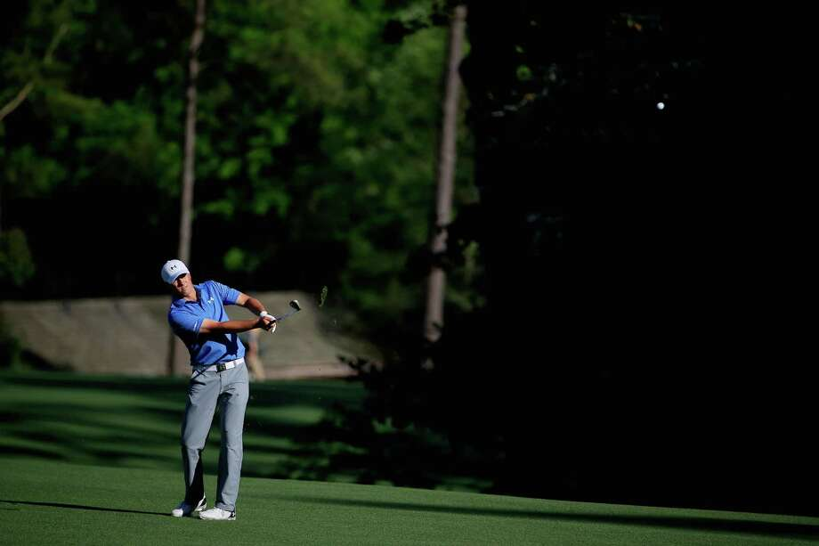 AUGUSTA, GA - APRIL 11: Jordan Spieth of the United States hits his third shot on the 13th hole during the third round of the 2015 Masters Tournament at Augusta National Golf Club on April 11, 2015 in Augusta, Georgia. Photo: Jamie Squire, Getty Images / 2015 Getty Images