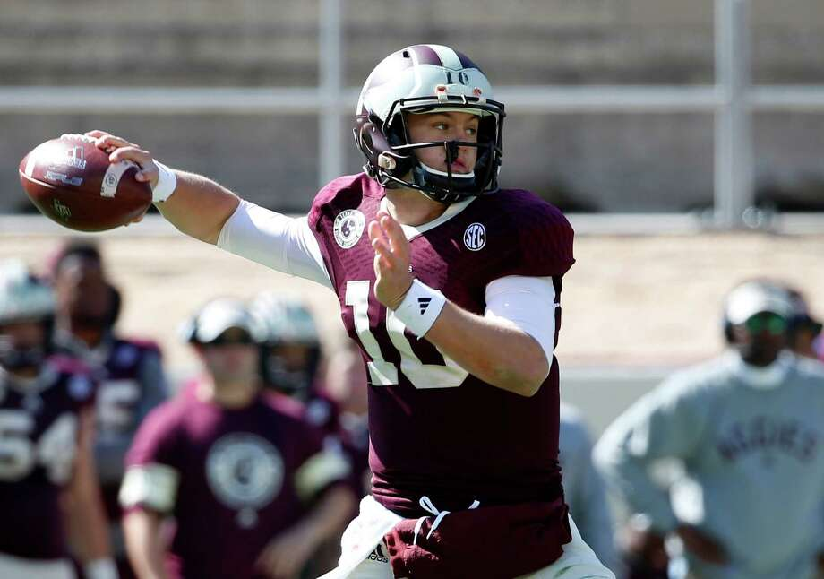 Texas A&M quarterback Kyle Allen, who donned one of the Aggies' 1939 throwback uniforms in his first start last year, has emerged as a team leader. Photo: Tony Gutierrez, STF / AP