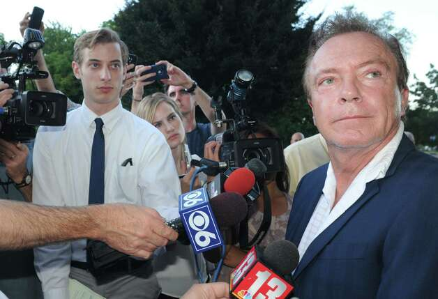 Celebrity David Cassidy talks about the status of his DWI plea at Town Court on Wednesday Sept. 3, 2014 in Schodack, N.Y.  (Michael P. Farrell/Times Union) ORG XMIT: MER2014090319484203 Photo: Michael P. Farrell / 00028445A