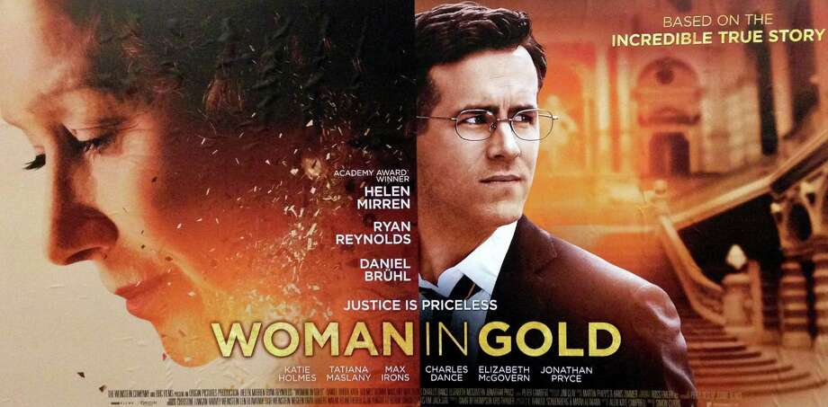 """""""Woman in Gold,"""" a new movie starring Helen Mirren and Ryan Reynolds, tells the true story of a woman's battle to reclaim the Gustav Klimt painting, ìPortrait of Adele Bloch-Bauer,î stolen from her family by the Nazis during World War II. Photo: Contributed Photo, Contributed / Westport News"""