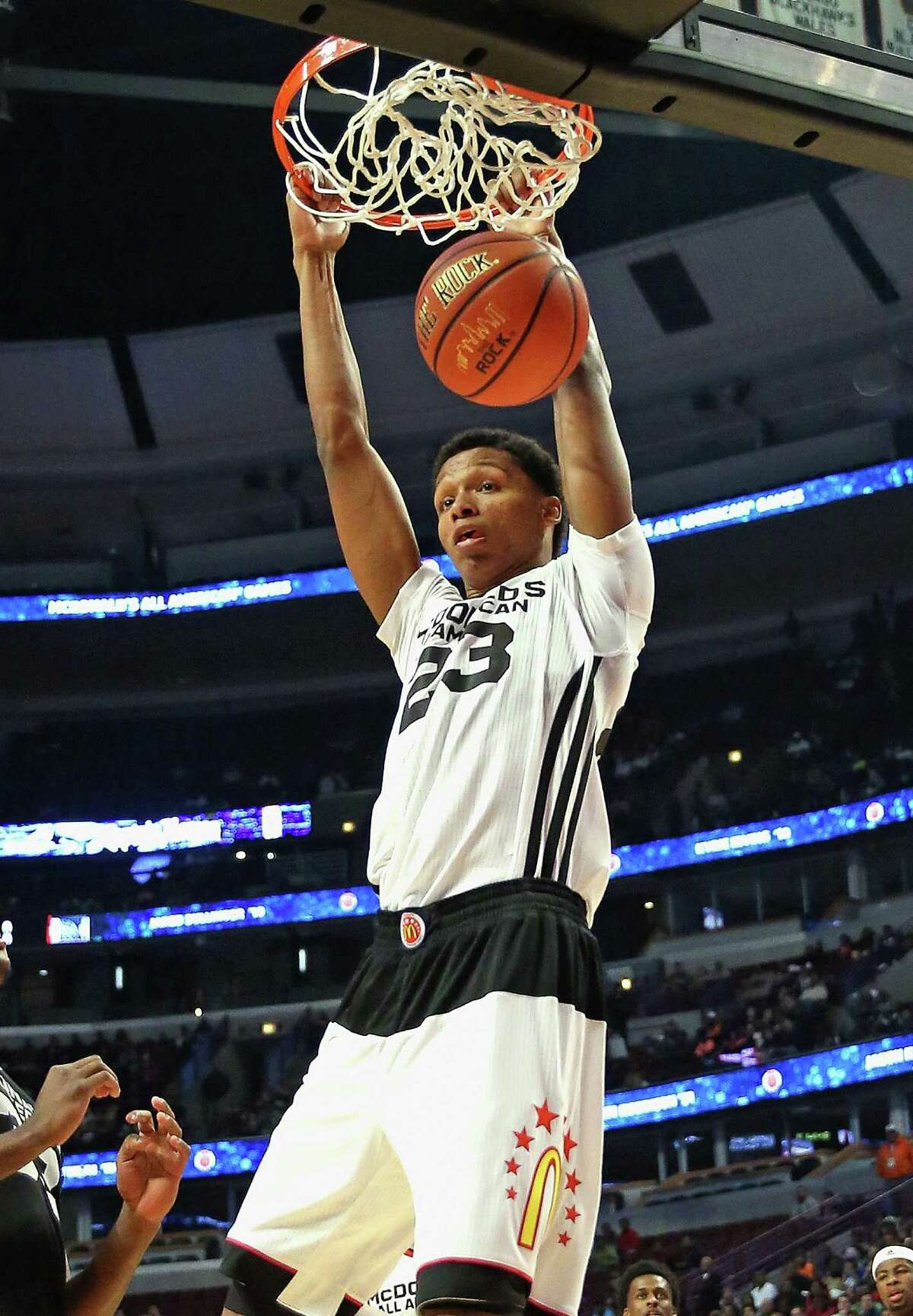 CHICAGO, IL - APRIL 01: McDonald's All-American Ivan Rabb will announce his college choice Monday at 7 p.m. (Photo by Jonathan Daniel/Getty Images)