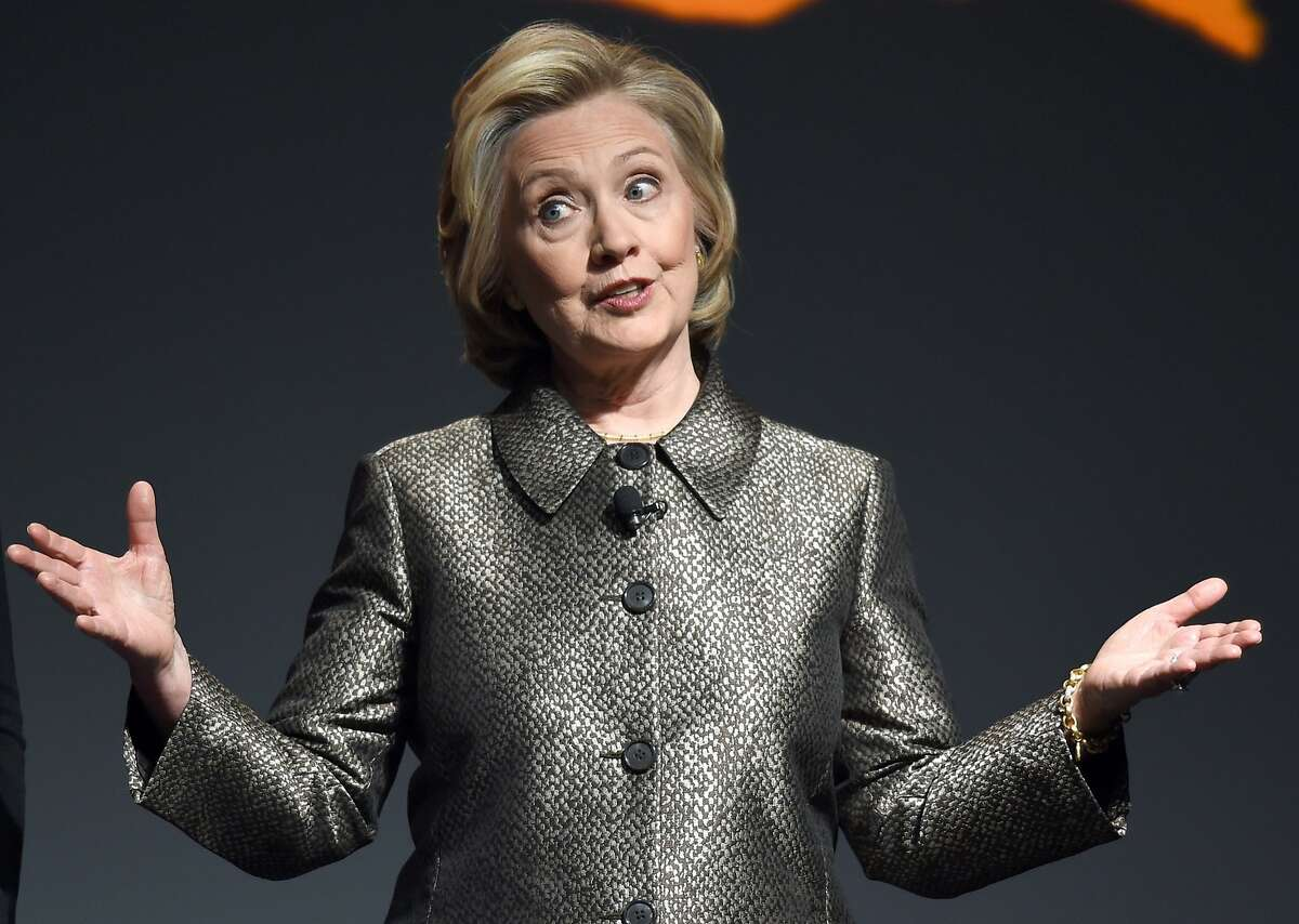 (FILES) This March 9, 2015 file photo shows Hillary Clinton as she speaks at a women's equality event in New York. Hillary Clinton is launching a run for the White House and will soon embark on a campaign tour in Iowa, a top advisor to the Democrat told donors and supporters April 12, 2015.