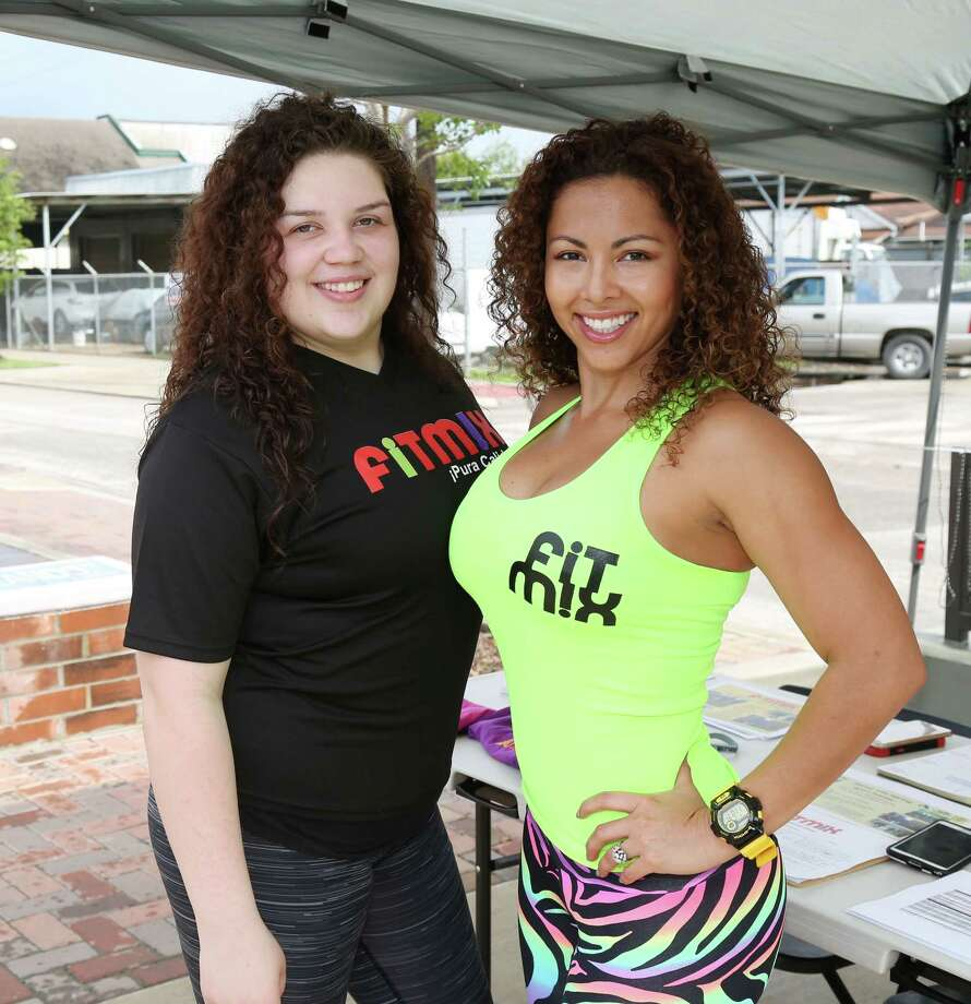 Guests pose for a photo at the inaugural East End Farmer's Market on the Navigation Blvd Esplanade Sunday, April 12, 2015, in Houston. Photo: Jon Shapley, Houston Chronicle / © 2015 Houston Chronicle