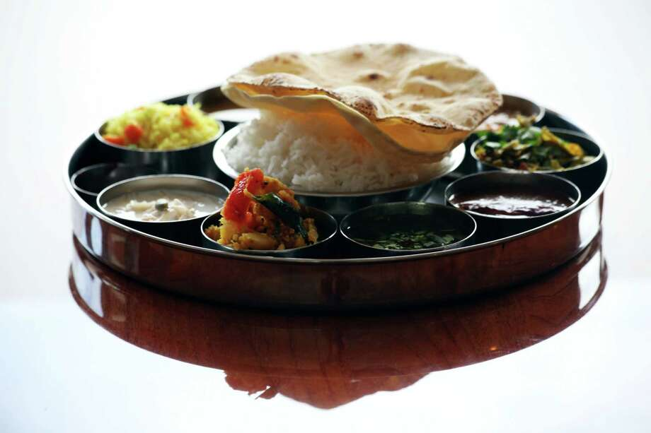 The colorful Thali Vegetable dish at Madras Restaurant in Sunnyvale. Photo: Sophia Germer / The Chronicle / ONLINE_YES