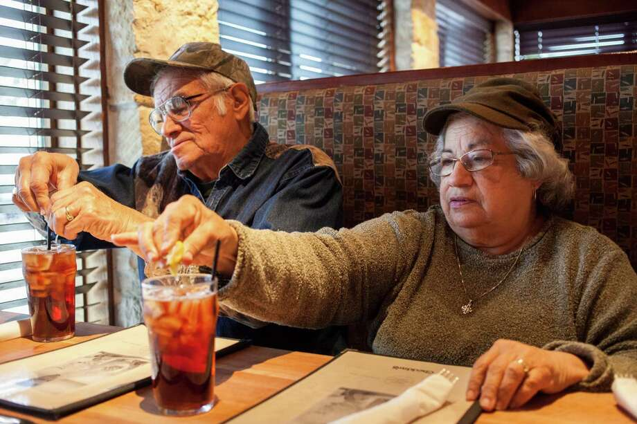 Esperanza Salinas, 70, and her husband, Jorge, at a diner after visiting an eight-liner parlor in Starr County. Despite laws saying otherwise, slot machine casinos thrive throughout the state. Photo: Ilana Panich-Linsman /New York Times / NYTNS