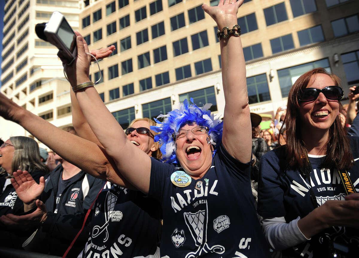 Rabid UCONN women's basketball fan Judith Vicek, of Niantic, who goes by the handle