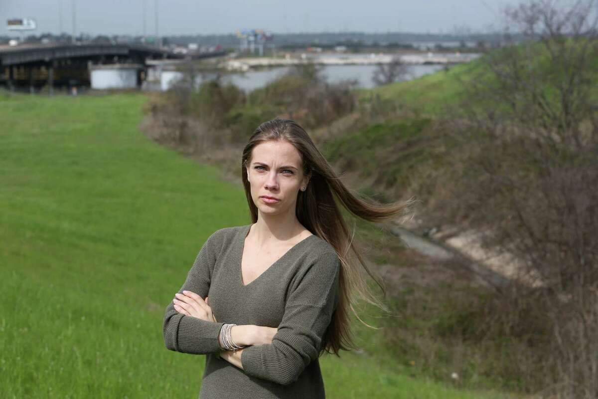 """Jackie Young, who grew up near the San Jacinto River Waste Pits, wants to why people are """"so sick."""""""