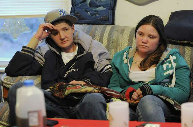 Eli James Hotaling's mothers Brenda, left, and Alyssa Hotaling talk about their baby son Eli who died Dec. 9 after consuming liquid nicotine Tuesday, Dec. 23, 2014 in Canajoharie, N.Y. (Lori Van Buren / Times Union) Photo: Lori Van Buren / 00029982A