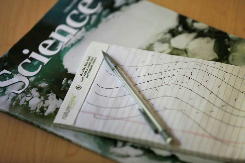 A Drawing Daniel Made Of Weather Patterns Sits On His Living Room Table April 12