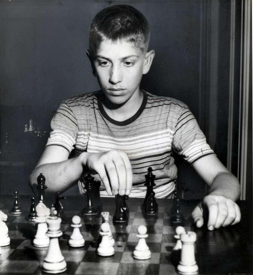 Bobby Fischer, then 14, in New York in 1957. Photo: Robert Walker, NYT