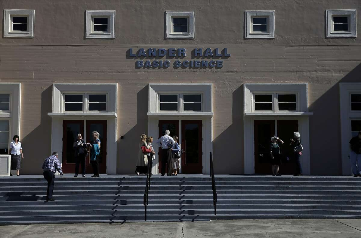 Patrons wait during intermission of the final performance of the 2014-2015 season for the Vallejo Symphony Orchestra at Lander Hall on Mare Island in Vallejo, Calif., on Sunday, April 12, 2015. Vallejo Symphony is replacing its longtime conductor David Ramadanoff after 31 years as music director.