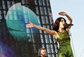 INDIO, CA - APRIL 12:  Singer Marina Diamandis of Marina & the Diamonds performs onstage during day 3 of the 2015 Coachella Valley Music & Arts Festival (Weekend 1) at the Empire Polo Club on April 12, 2015 in Indio, California.  (Photo by Kevin Winter/Getty Images for Coachella)