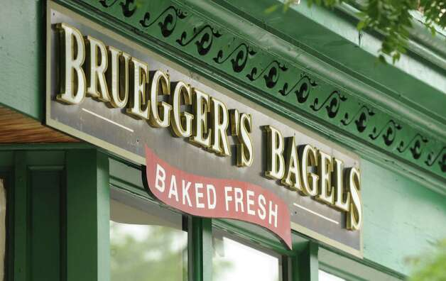 Bruegger?s Bagels is again giving guests its annual Tax Day break on its Big Bagel Bundles. From April 11-15, Big Bagel Bundles are just $10.40 ? about a $3.50 ?deduction? ? for guests who are members of Bruegger?s Bagels? email club. Bundles include 13 bagels and two tubs or cream cheese. (Will Waldron/Times Union) Photo: Will Waldron / 00022943A