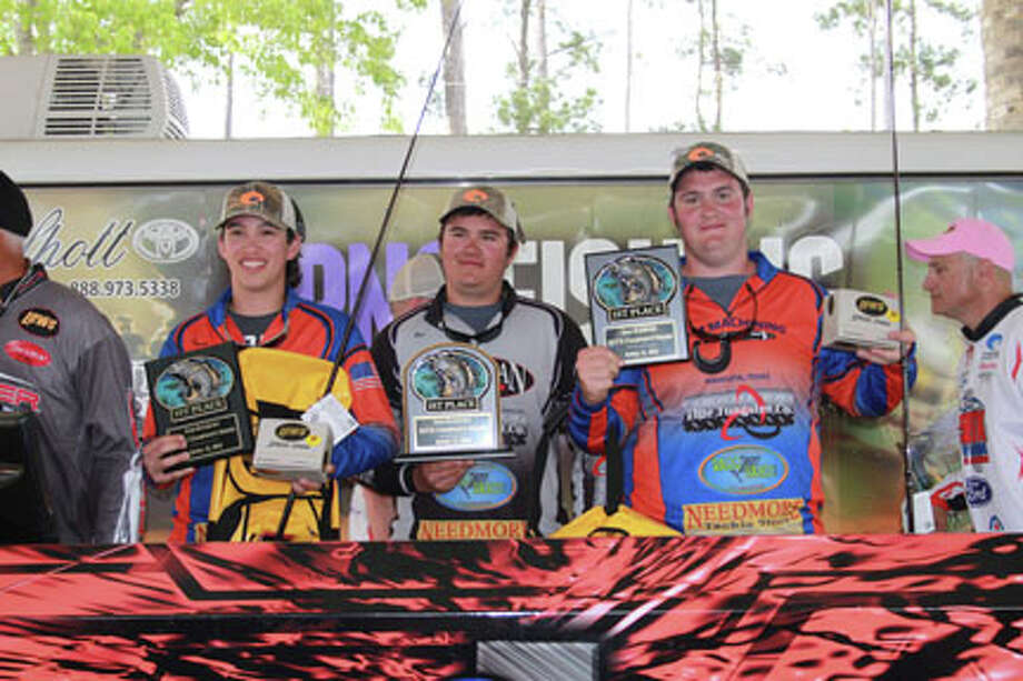 Jackson Carrell and Tanner Moreno from Shepherd took first with boat captain Cody Moreno with a weight of 17.66 lbs. photo by Carla Moorhead