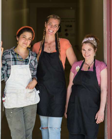 The Kitchen Witch bone broth team, from left to right, Magali Brecke, Rhiannon Henry, and Missy Woolstenhulme at there kitchen in Watsonville, Calif., Friday, April 3, 2015. Photo: Jason Henry, Special To The Chronicle