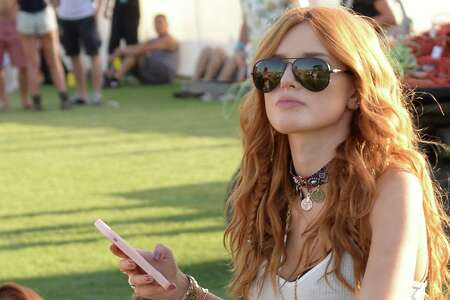 INDIO, CA - APRIL 11: Bella Thorne is seen at Coachella Valley Music and Arts Festival at The Empire Polo Club on April 11, 2015 in Indio, California.  (Photo by Light Brigade/Bauer-Griffin/GC Images)