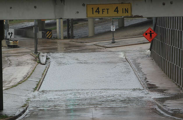 Interstate 45 and Travis Street  The Interstate 45 north on ramp where Travis street intersects with I-45 is closed by high water due to heavy rains Friday, Dec. 19, 2014, in Houston. Photo: James Nielsen, Houston Chronicle File / © 2014  Houston Chronicle