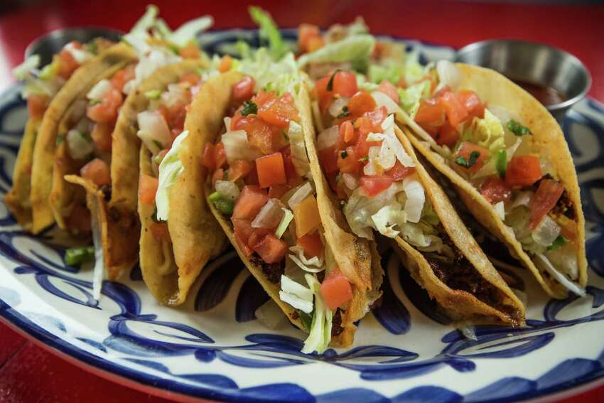 The El Cantina Superior's J 'n B Dorado tacos are deep-fried and stuff with ground beef.