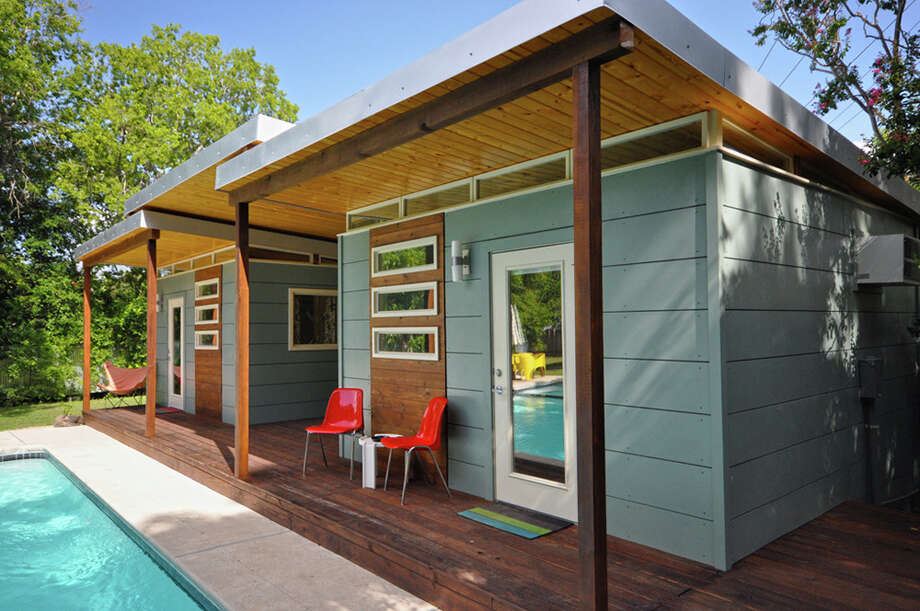 "Double 14x14 ""Modern Studios"" with connecting porch Photo: Courtesy Kangaroom Systems / 2012 Jeremy Ellis Kanga Room Systems"