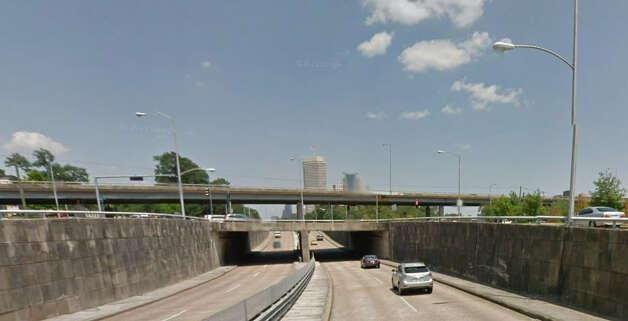 Memorial Drive passing under Shepherd Drive Photo: Google Maps