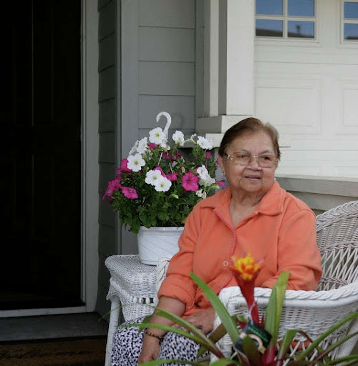 Gloria Montalvo volunteers her time visiting gravesites.