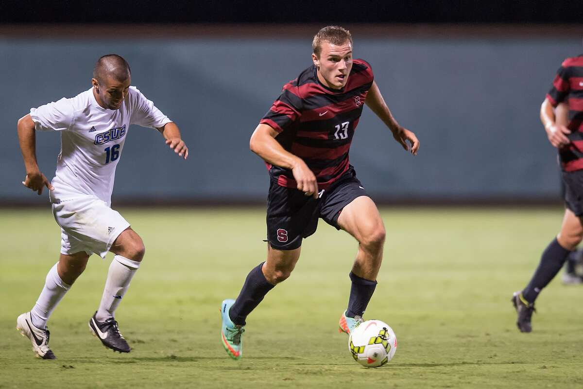 Stanford's Jordan Morris (right) has a team-best eight goals and two assists though he missed four games this season.