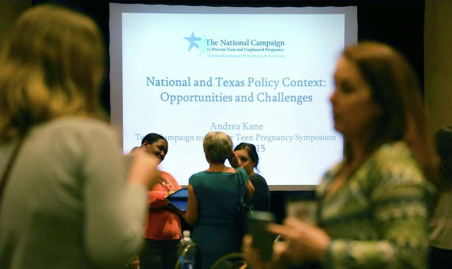 The Texas Campaign to Prevent Teen Pregnancy conference at the Marriot Plaza is in its second and final day today. Photo: Photos By Bob Owen /San Antonio Express-News / © 2015 San Antonio Express-News