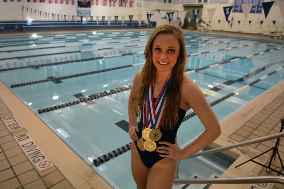 Kingwood senior Lexie Lupton added four more state medals, including two golds, to her collection this year. Photo: Jerry Baker, Freelance