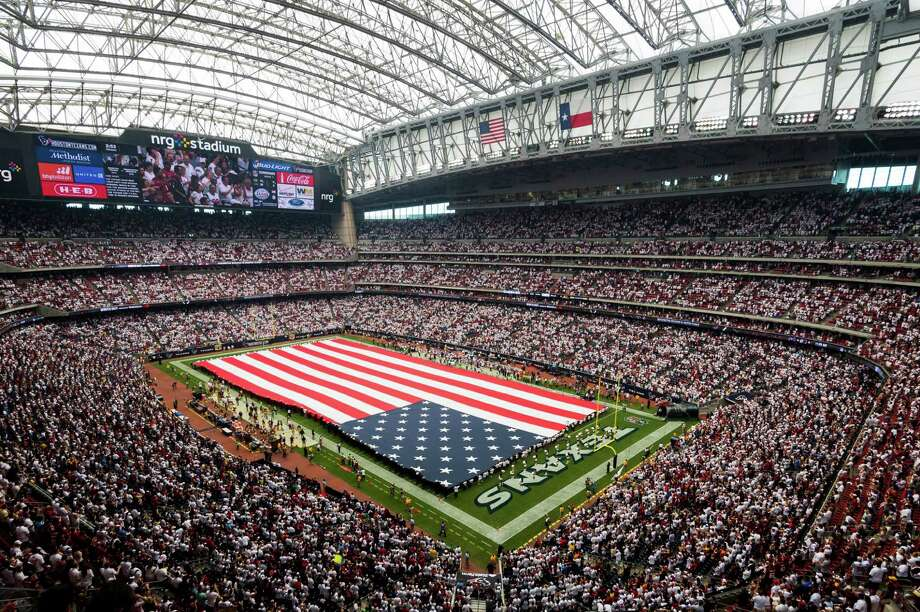 For last season's Texans opener, NRG Stadium already had a different look than the 2004 Super Bowl host. Photo: Smiley N. Pool, Staff / © 2014  Houston Chronicle