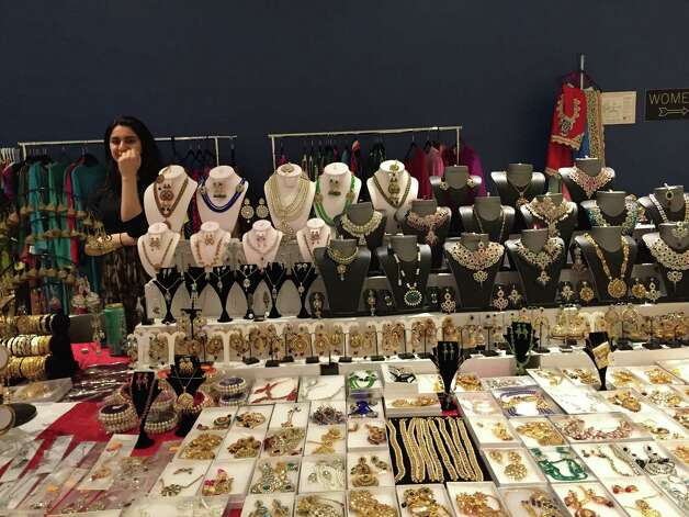 A jewerly stall at the Islamic Circle of North America convention presented on Saturday, April 11, at the Empire State Plaza Convention Center. (Azra Haqqie / Times Union)