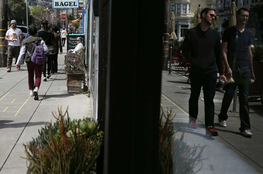 24th Street in Noe Valley is busy with shoppers and pedestrians on Monday, April 13, 2015. Photo: Amy Osborne, The Chronicle