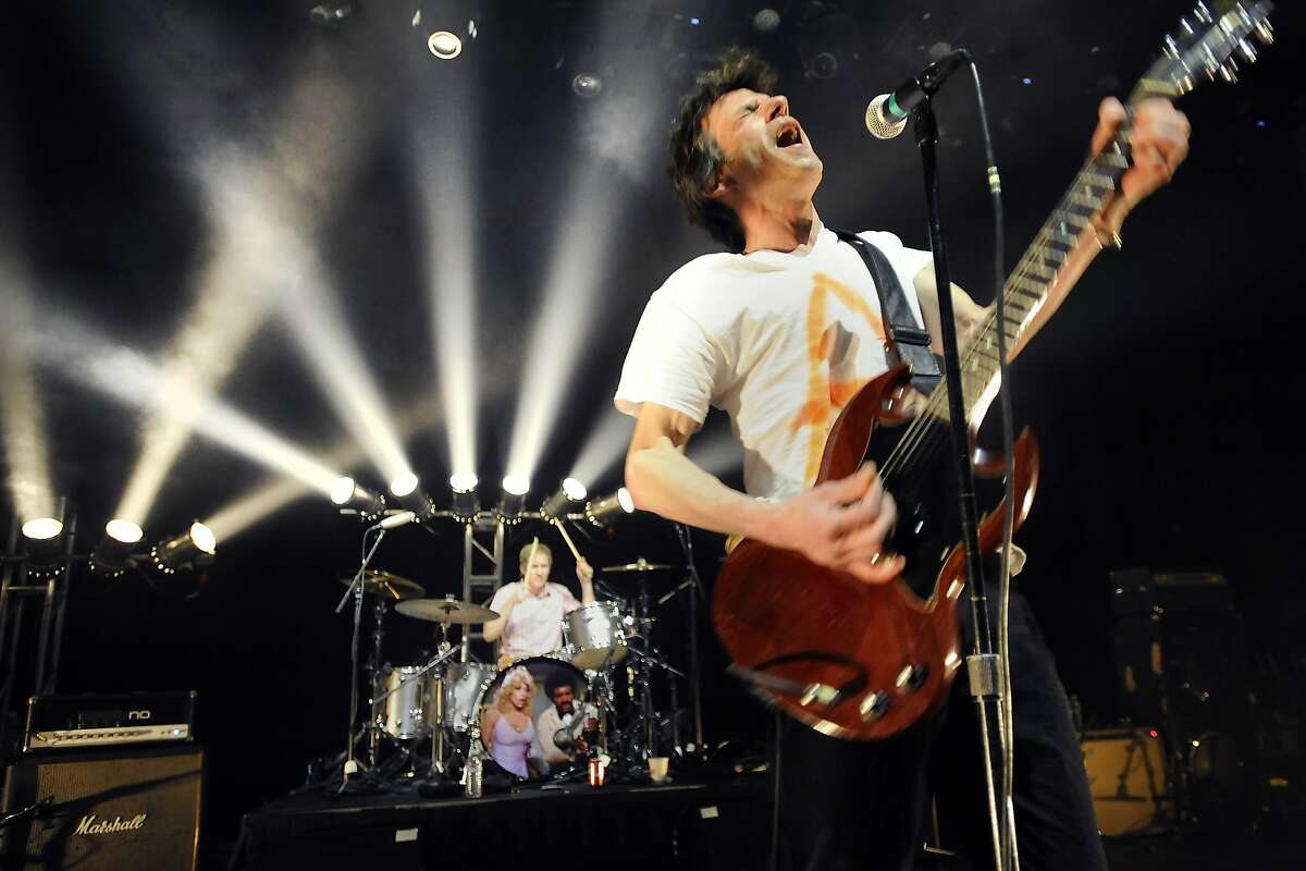 (L-R)Josh Freese, and Paul Westerberg of The Replacements perform on stage at the Masonic Auditorium in San Francisco, CA, on Monday, April 13, 2015.