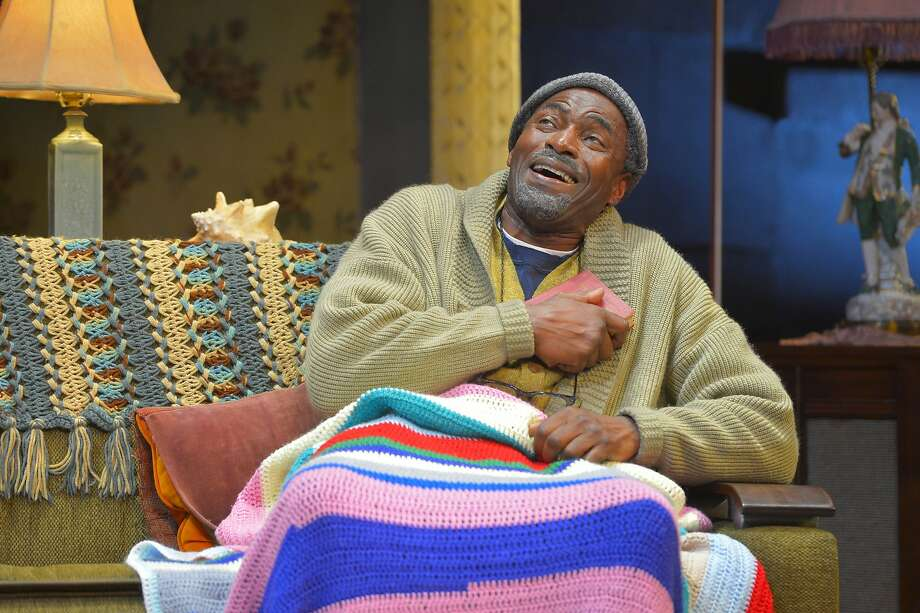 """Alfred (Carl Lumbly, left), an aging, cantankerous West Indian immigrant, enjoys a laugh in Kwame Kwei-Armah's """"Let There Be Love"""" at ACT Photo: Kevin Berne"""