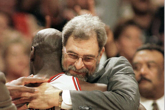 Michael Jordan, coach Phil Jackson helped the Bulls go 72-10 and win the NBA crown in the 1995-96 season.