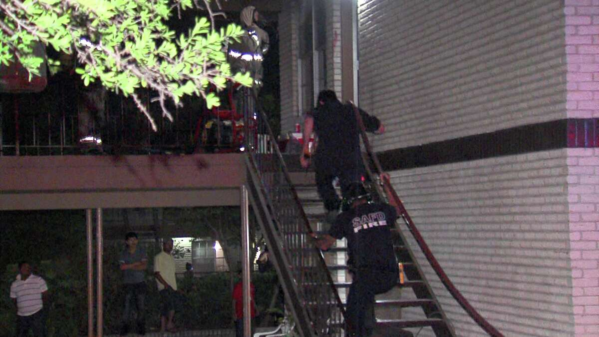 Arson investigators are looking into a suspicious fire at an apartment complex on the North Side Monday night.