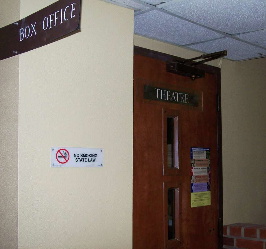 The lease between the town and the Westport Community Theatre is up for renewal. The theater, box office and other rooms the WCT leases are located in the Town Hall basement. Photo: Anne M. Amato / westport news