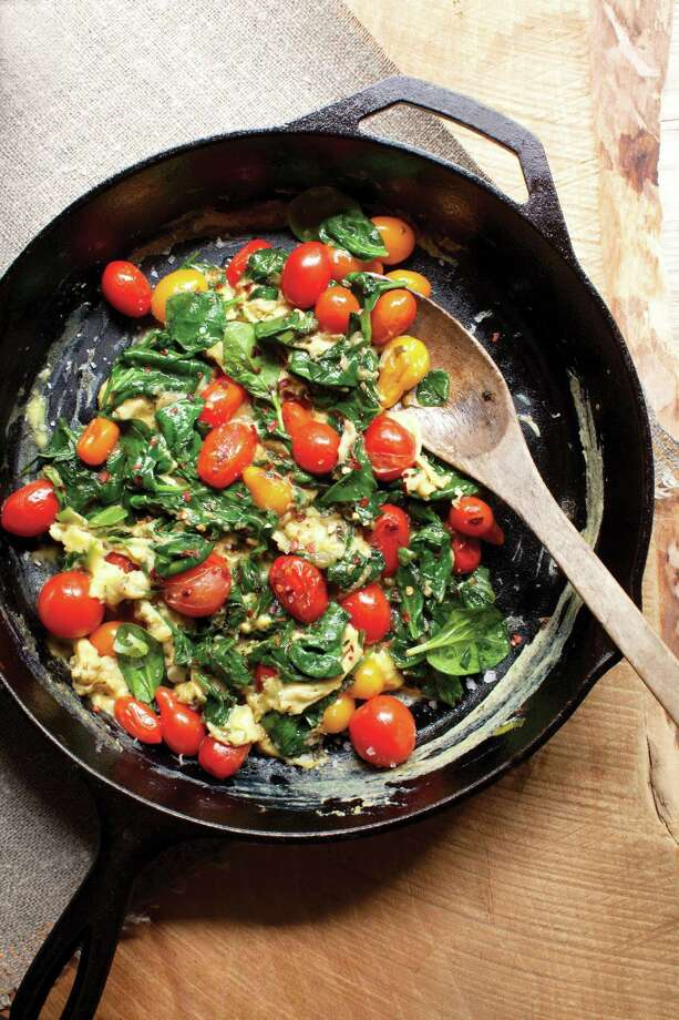 Blistered Tomato and Spinach Scramble. Photo: The Ranch At Live Oak/Malibu