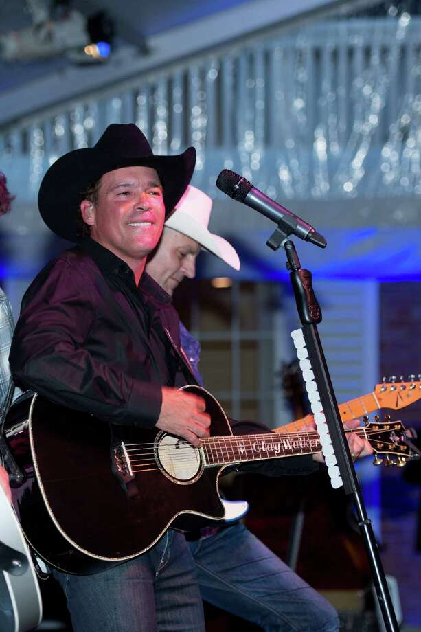 Clay Walker performing at the inaugural UTHealth Live! Concert