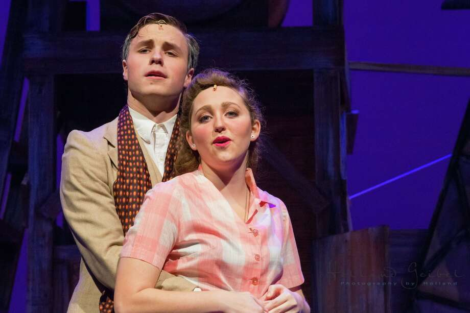"Episcopal High School student Henry Herbert, shown with Liz Buzbee of River Oaks, is nominated as best actor in this year's Tommy Tune Awards for his role as Emile De Becque in the school's production of ""South Pacific."" Photo: Holland Geibel"